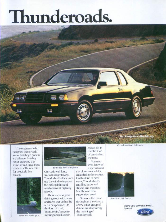 Image for Ford Thunderbird Thunderoads Conzelman Road CA ad 1985