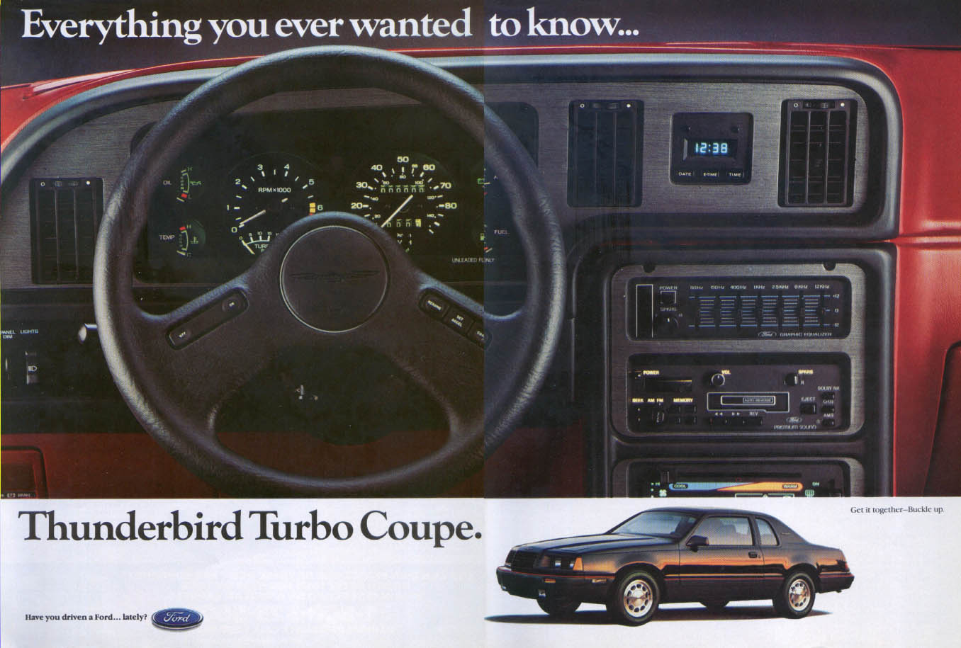 Image for Ford Thunderbird Everything ever wanted to know ad 1985