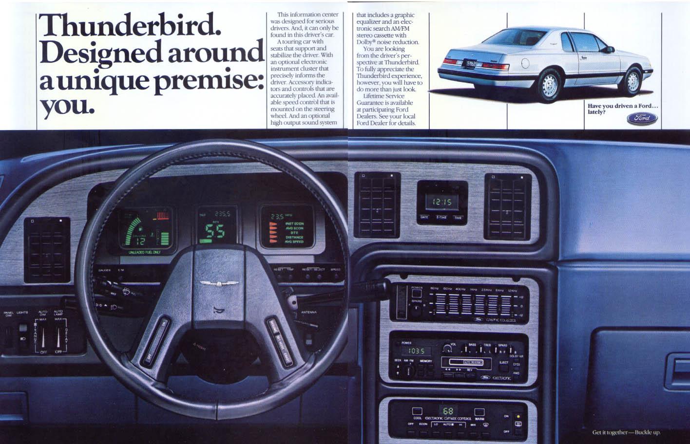Image for Ford Thunderbird designed around unique premise ad 1985