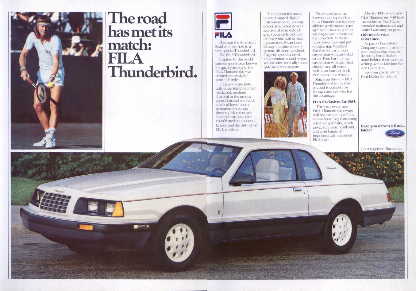 Image for Ford Thunderbird met its match Bjorn Borg FILA ad 1985