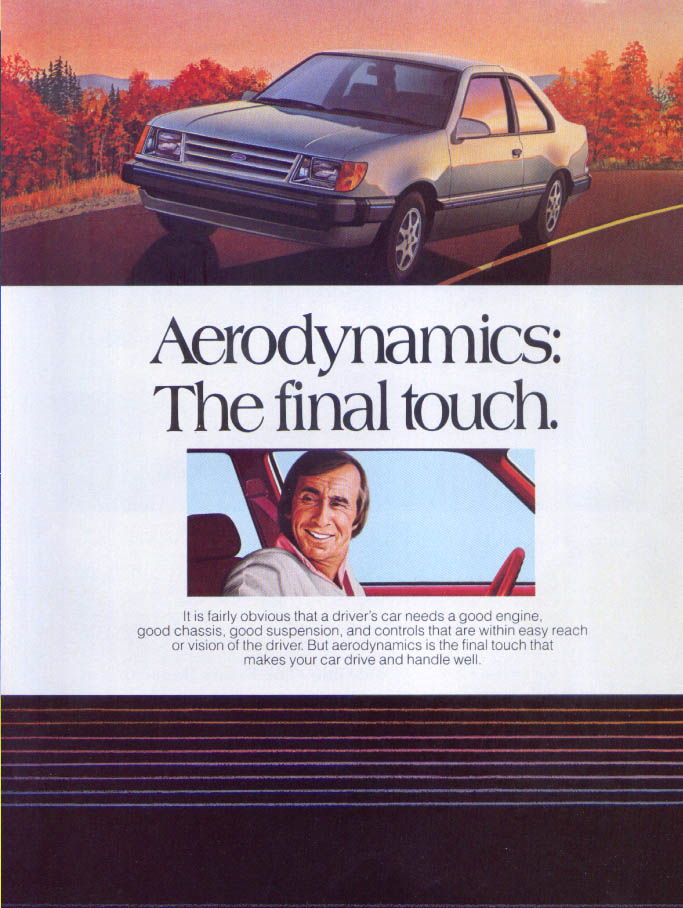 Image for Ford Thunderbird Aerodynamics: final touch ad 1985