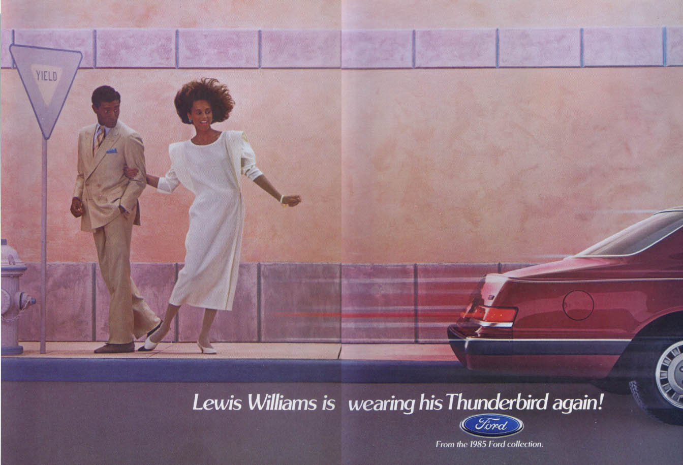 Image for Ford Thunderbird Lewis Williams wearing again ad 1985