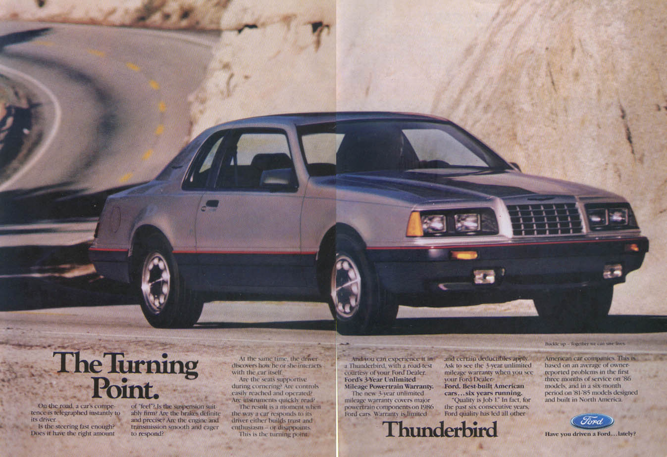 Image for Ford Thunderbird Turning Point ad 1986