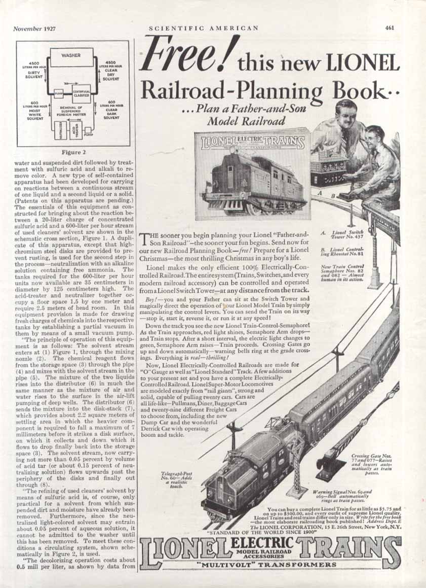 Lionel Electric Trains Railroad-Planning Book ad 1927