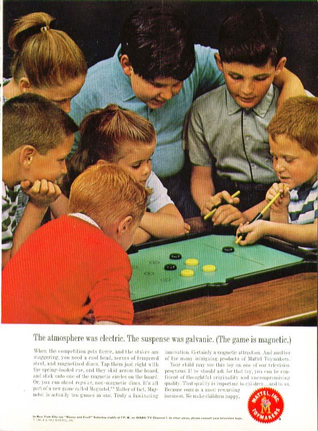 Suspense galvanic Mattel Magnetel Game ad 1962