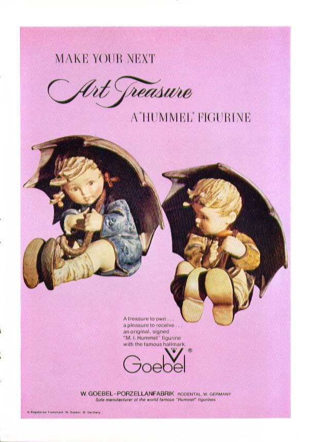 Your next art treasure a Hummel Figurine ad 1973
