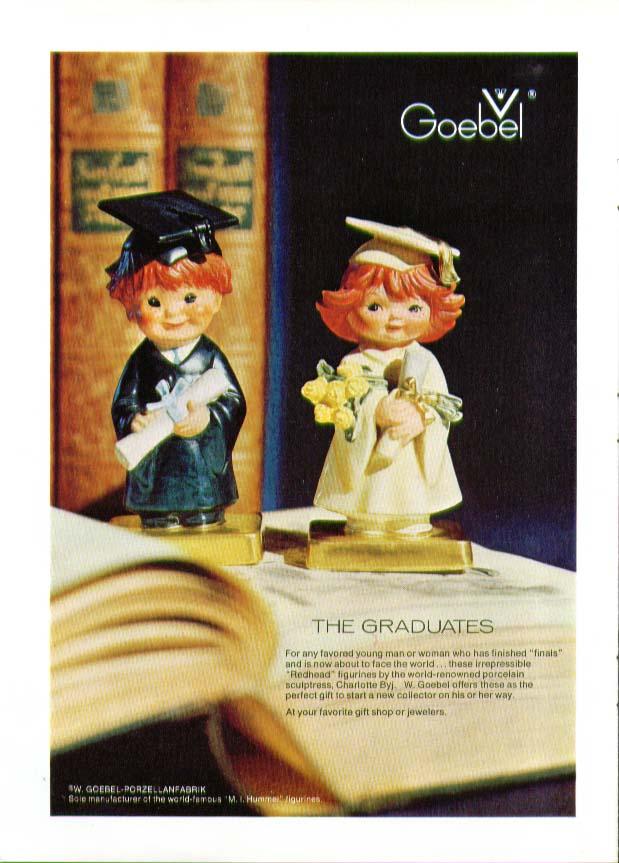 The Graduates Charlotte Byl Goebel Figurines ad 1974