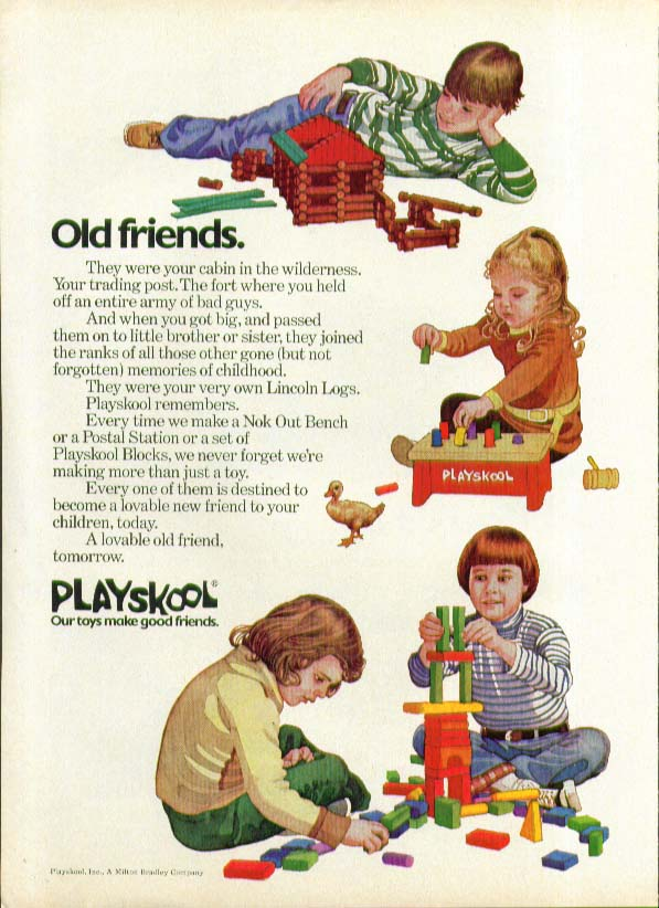 Old Friends Playskool Lincoln Logs Nok Out ad 1974