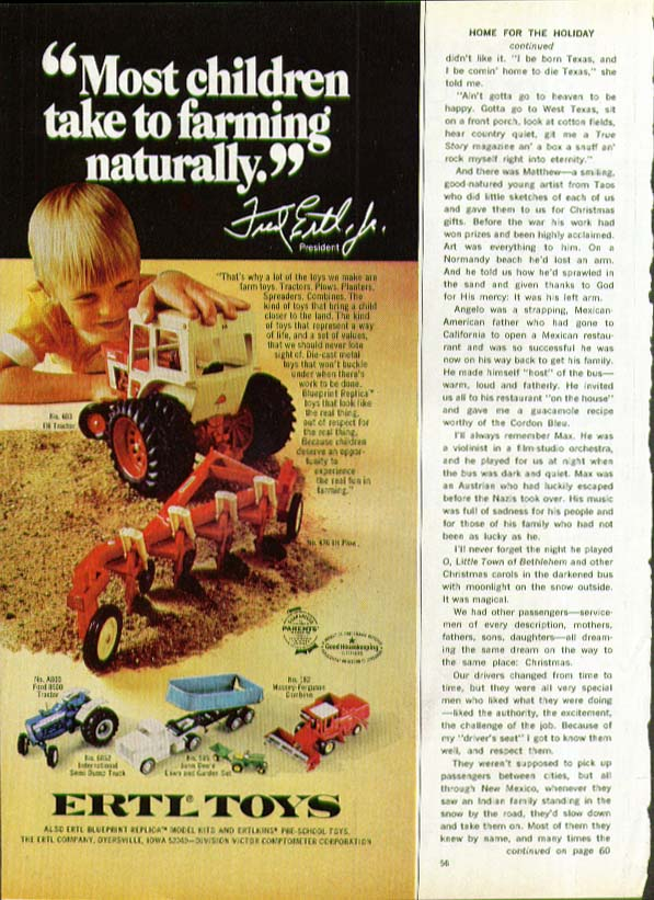 Most children take to farming Ertl Tractor ad 1974