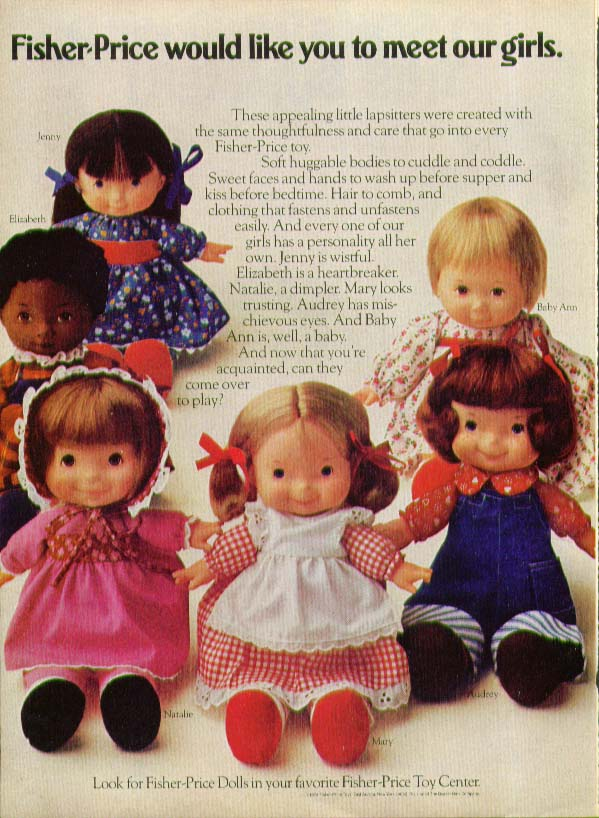 Fisher-Price meet our girls huggable doll ad 1974