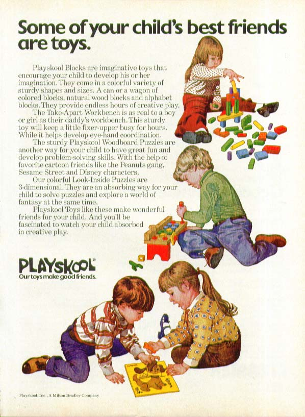 Some of your child's best friends are Playskool ad 1975
