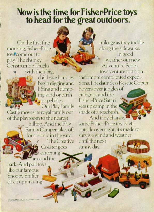 Head for great outdoors Fisher-Price Toy ad 1975