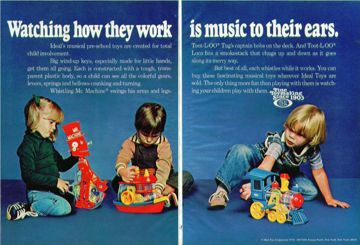 Watching how they work is music Ideal Toy ad 1978