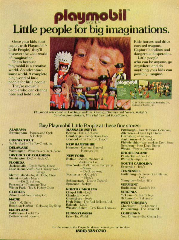 Playmobil Little People for Big Imaginations ad 1978