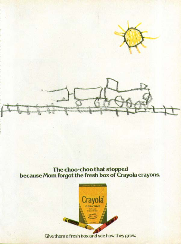 The choo-choo that stopped Crayola Crayons ad 1979
