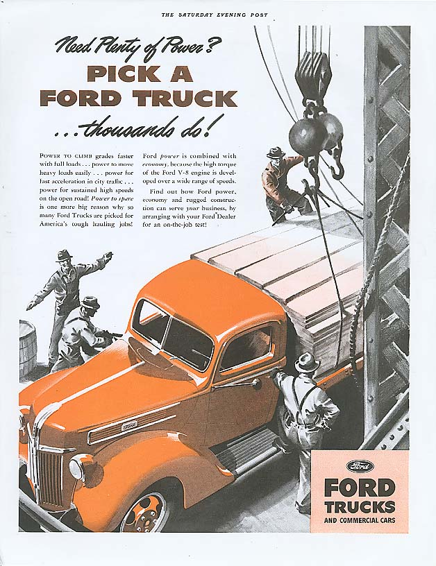 Image for Need plenty of power? Pick a Ford Truck ad 1941