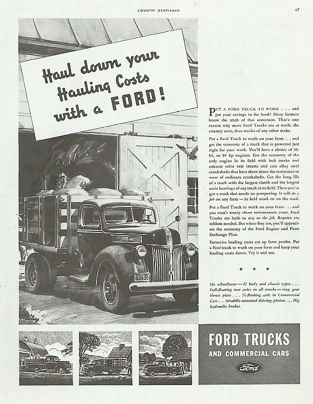 Image for Haul down your Hauling Costs Ford Truck ad 1941
