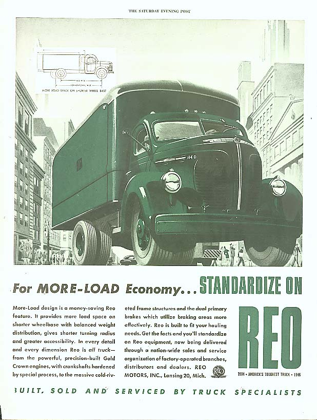 Image for For More-Load Economy Reo Truck ad 1946