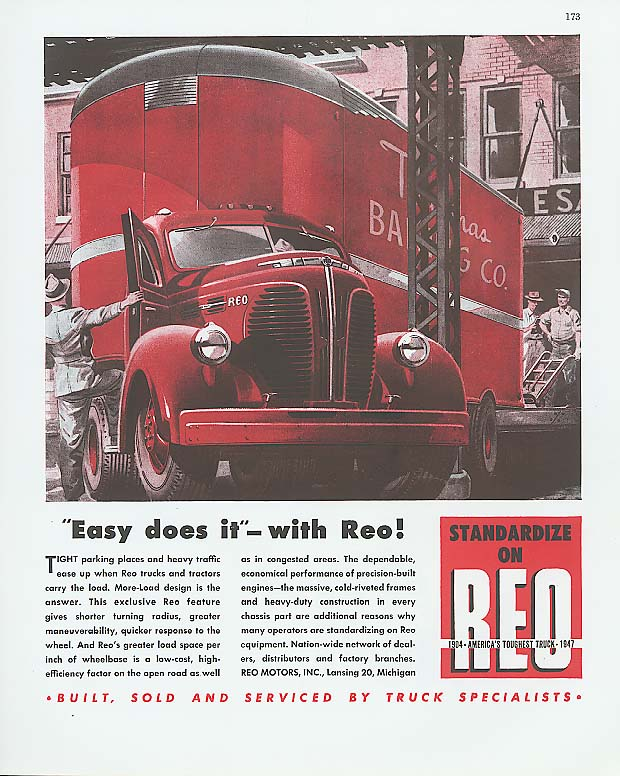 Image for Easy does it! With Reo Bakery Truck ad 1947