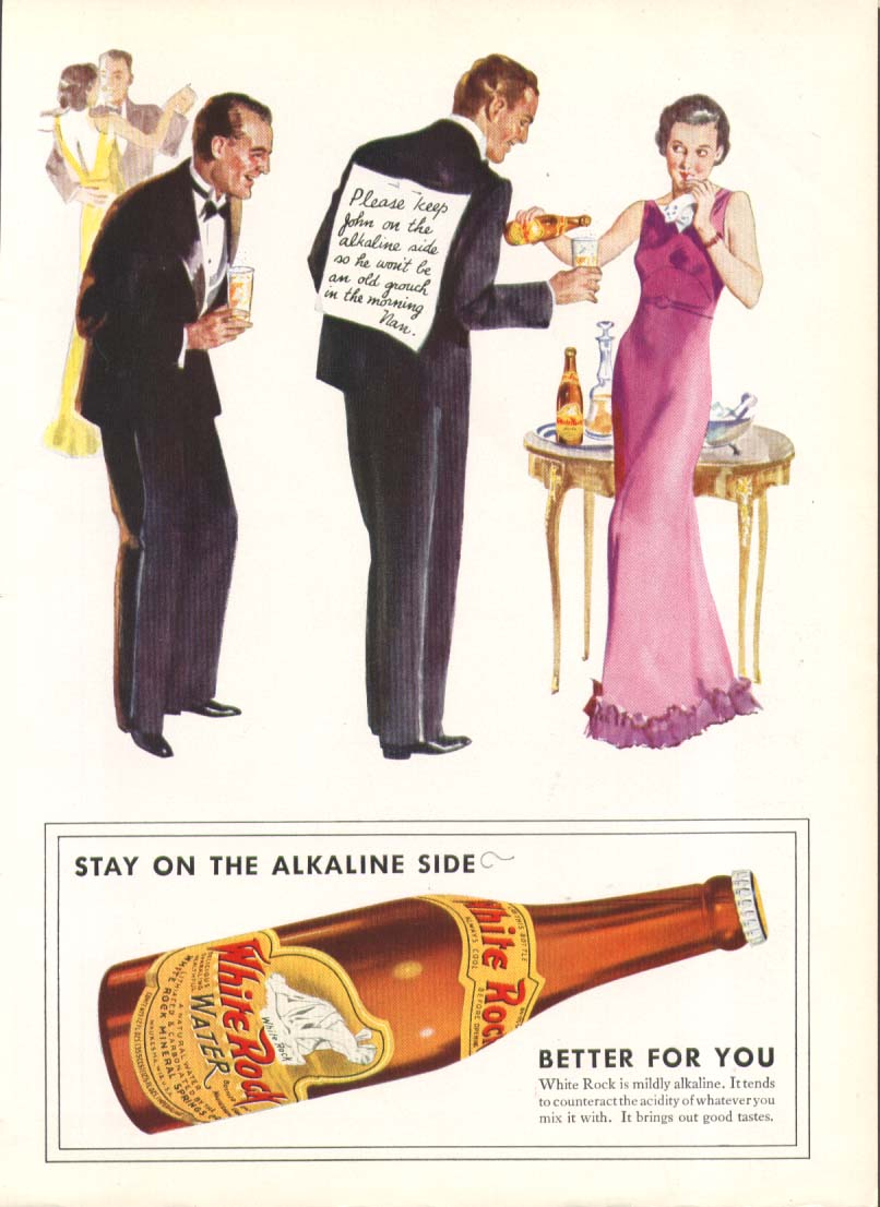 Image for Please keep John on the alkaline White Rock ad 1934