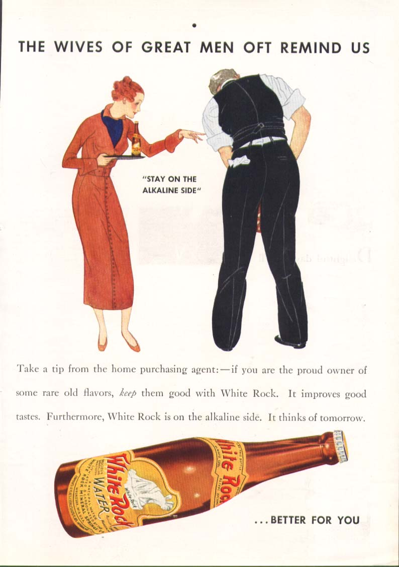 Image for Wives of great men oft remind us White Rock ad 1935