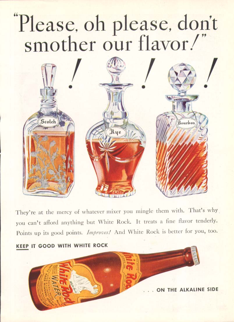 Image for Please o please don't smother flavor White Rock ad 1935