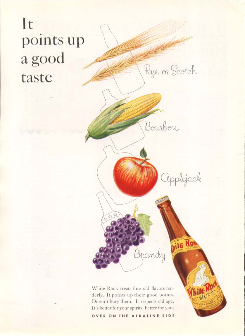 It points up a good taste White Rock ad 1935