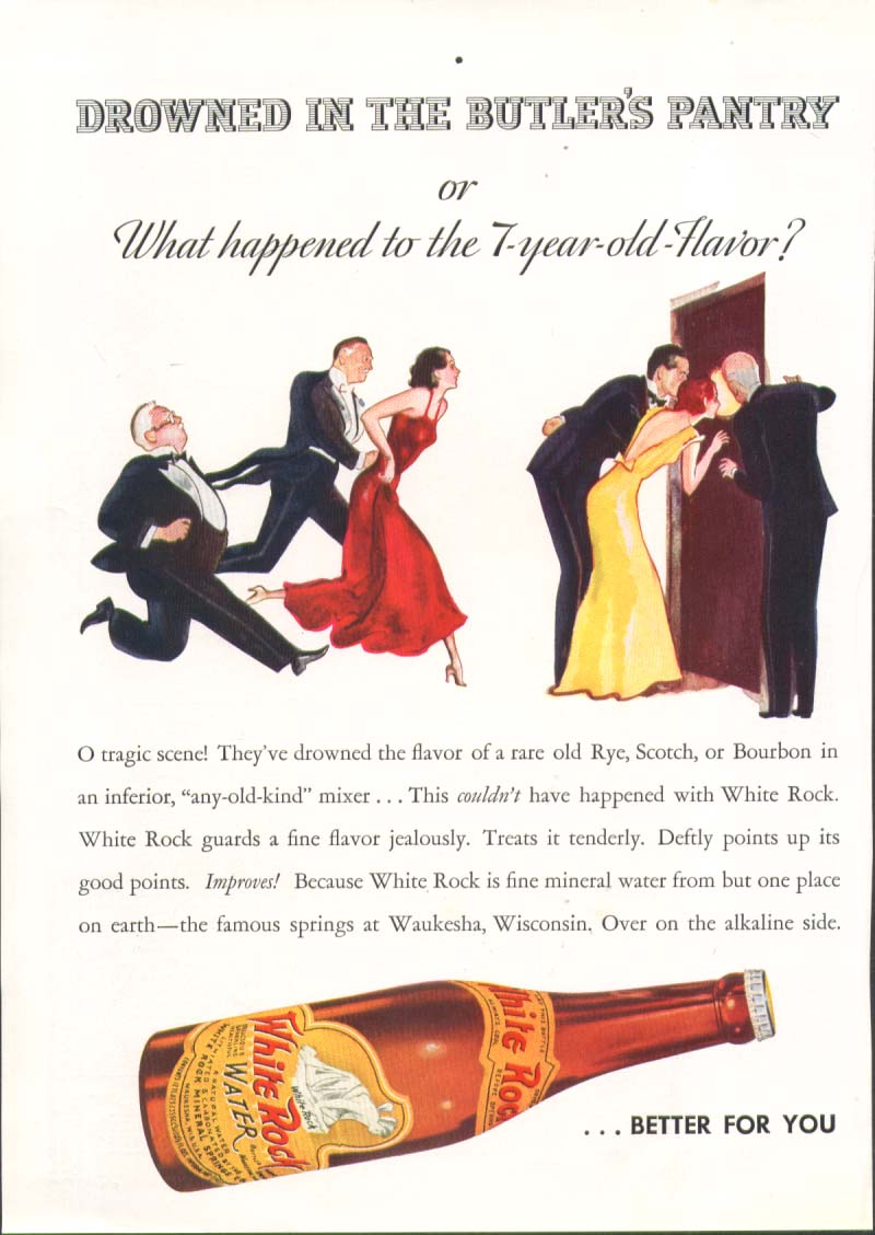 Drowned in the butler's pantry White Rock ad 1935