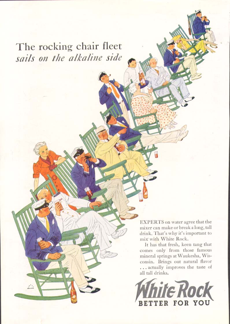 Image for Rocking chair fleet sails on White Rock ad 1936