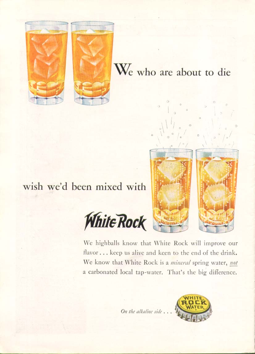 Image for We who are about to die wish we'd White Rock ad 1937