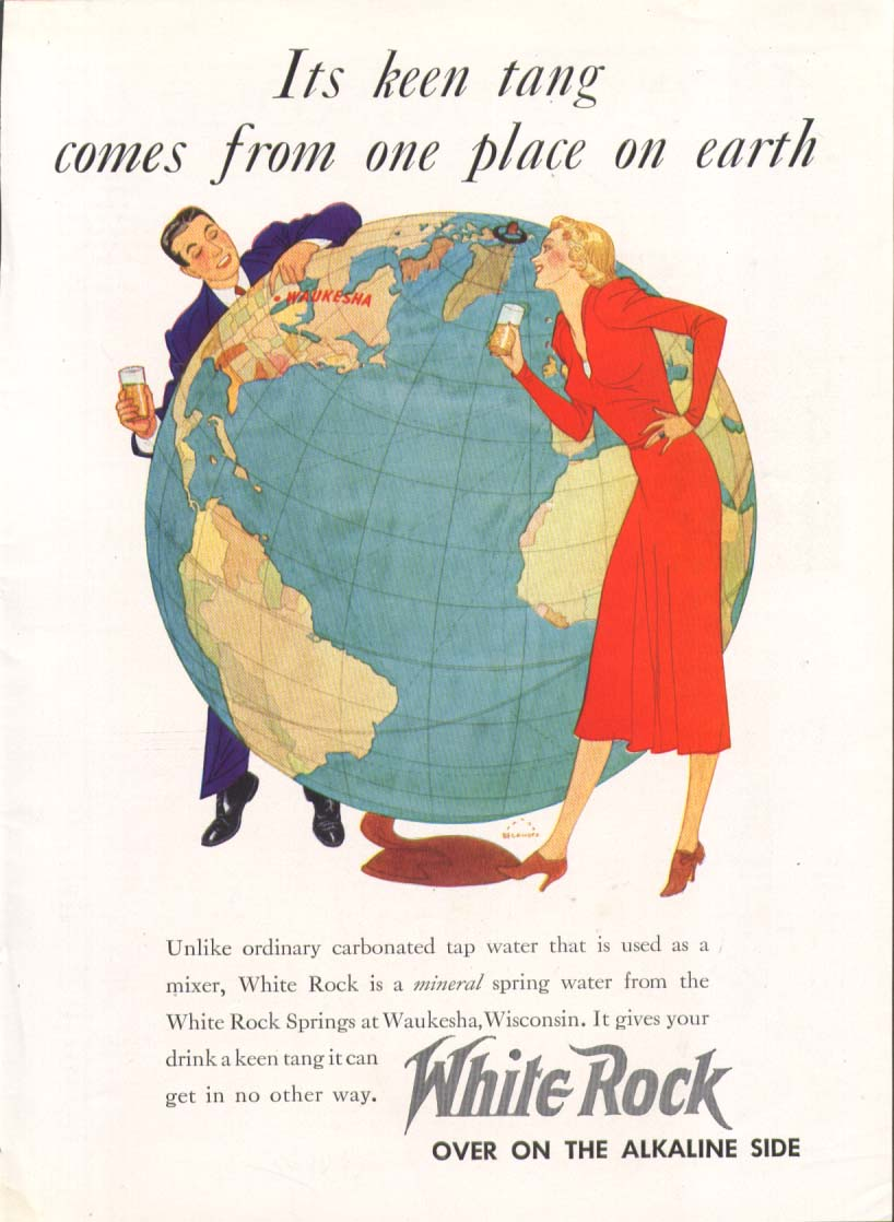 Image for Keen tang from one place White Rock ad 1937 giant globe
