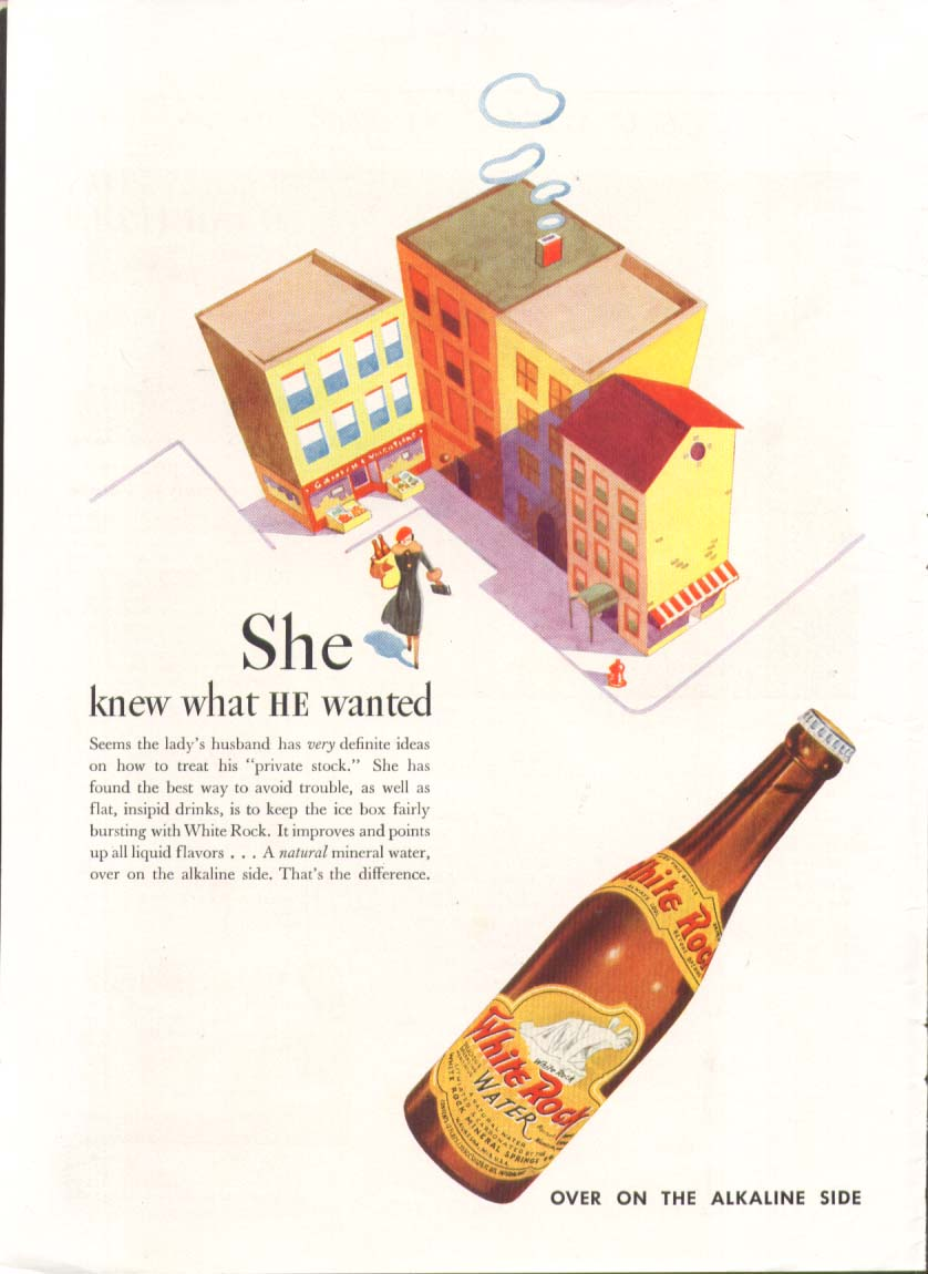 Image for She knew what HE wanted White Rock ad 1937