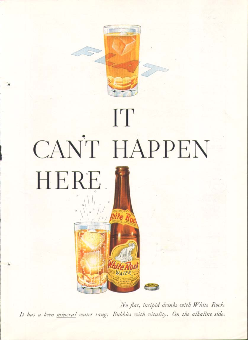 Flat - It can't happen here White Rock ad 1937
