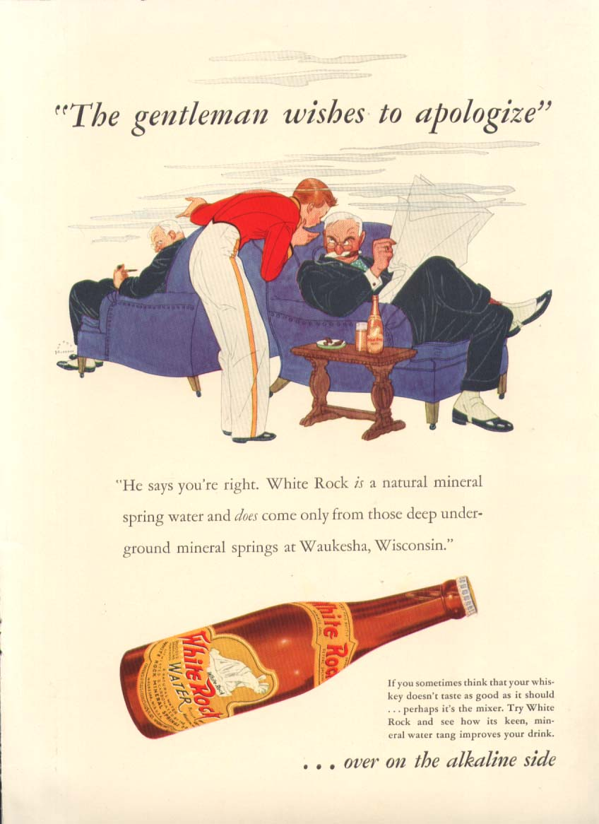 Image for The gentleman wishes to apologize White Rock ad 1937