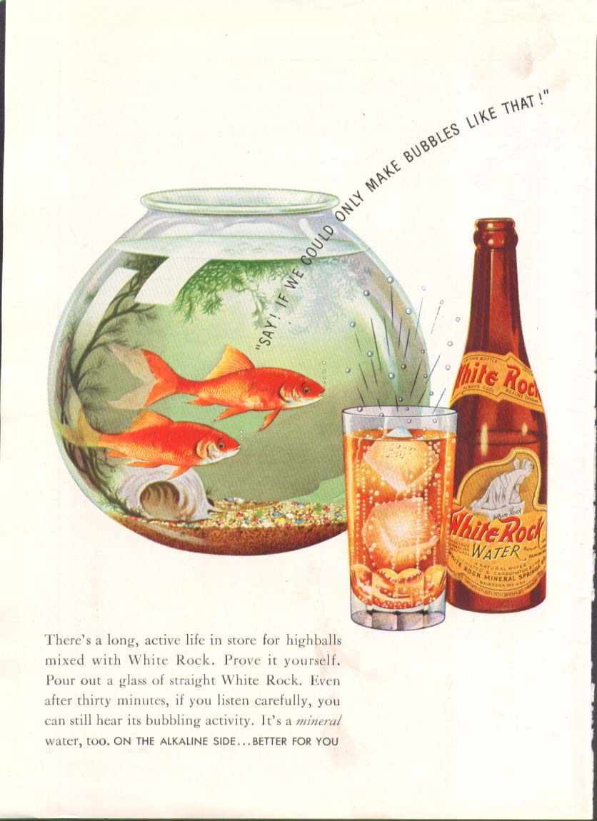 If we could only make bubbles like White Rock ad 1938