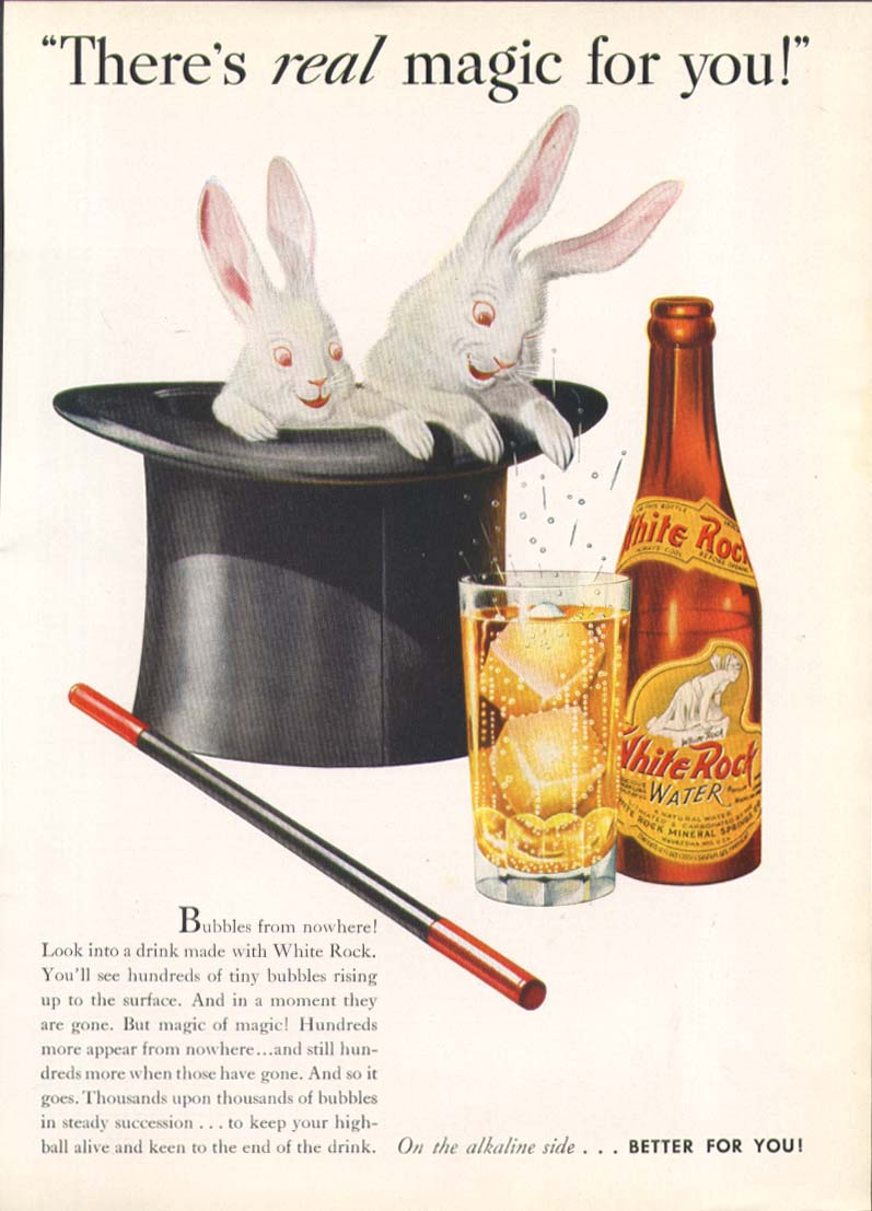 Image for There's REAL magic for you! White Rock ad 1938