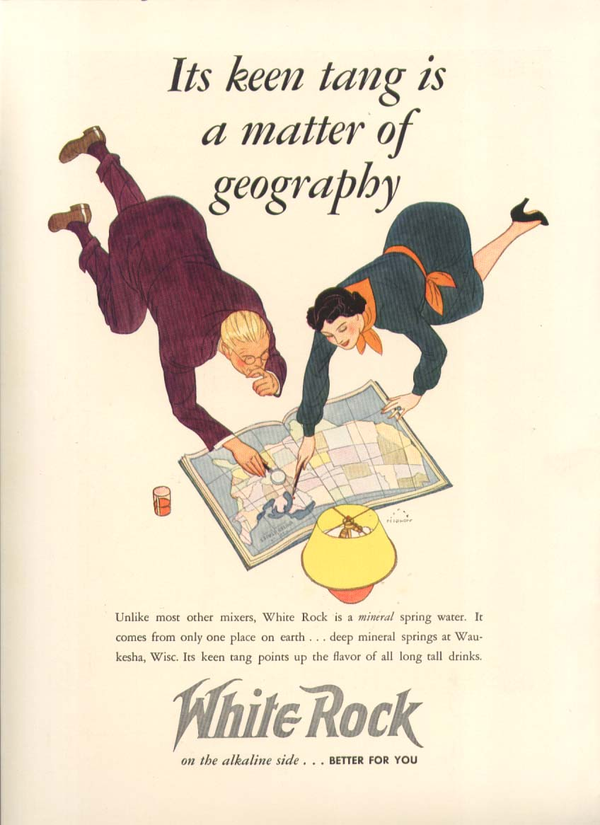 Image for Its keen tang a matter of geography White Rock ad 1938
