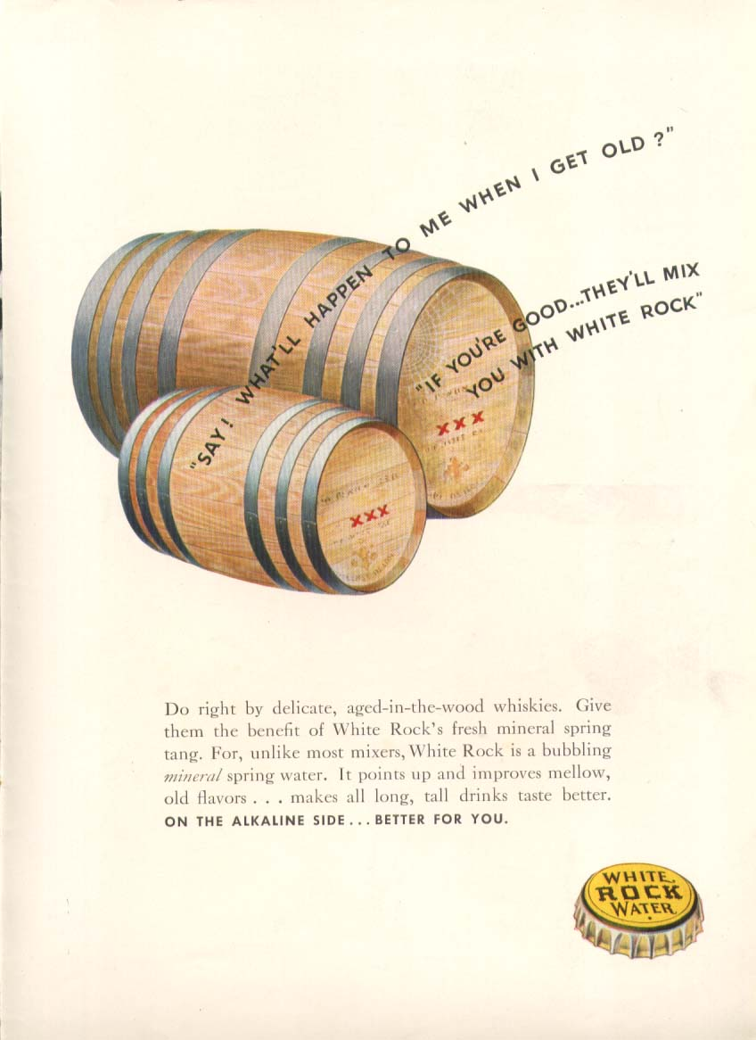 Image for What'll happen when I get old? White Rock ad 1938