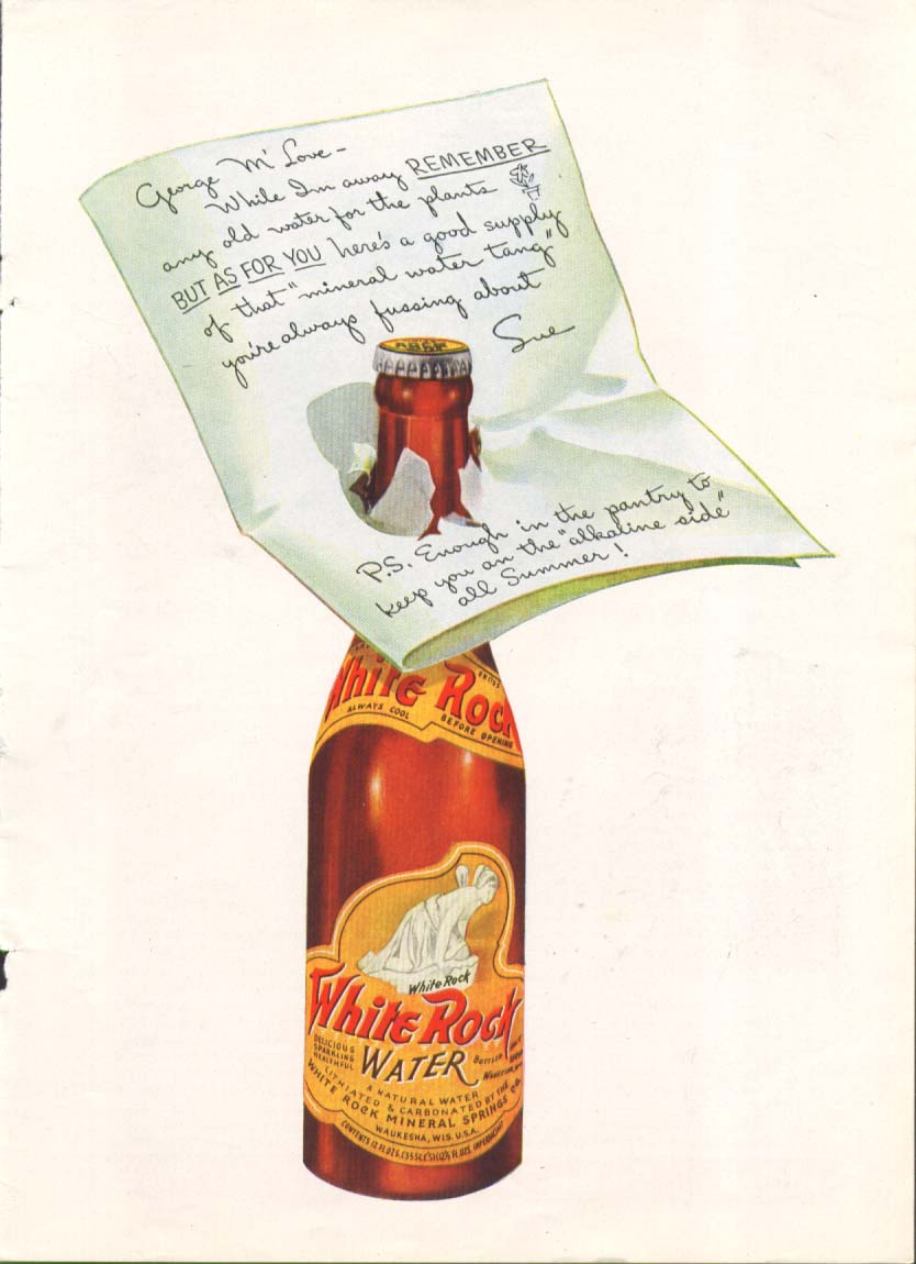 George M' Love here's a good supply White Rock ad 1938