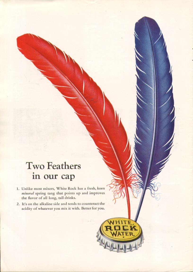 Image for Two feathers in our cap White Rock ad 1939