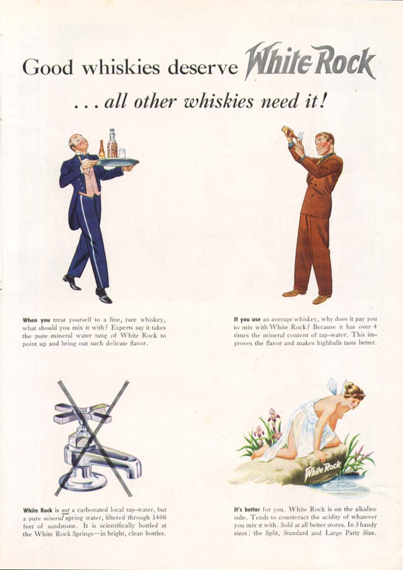 Good whiskies deserve White Rock ad 1939