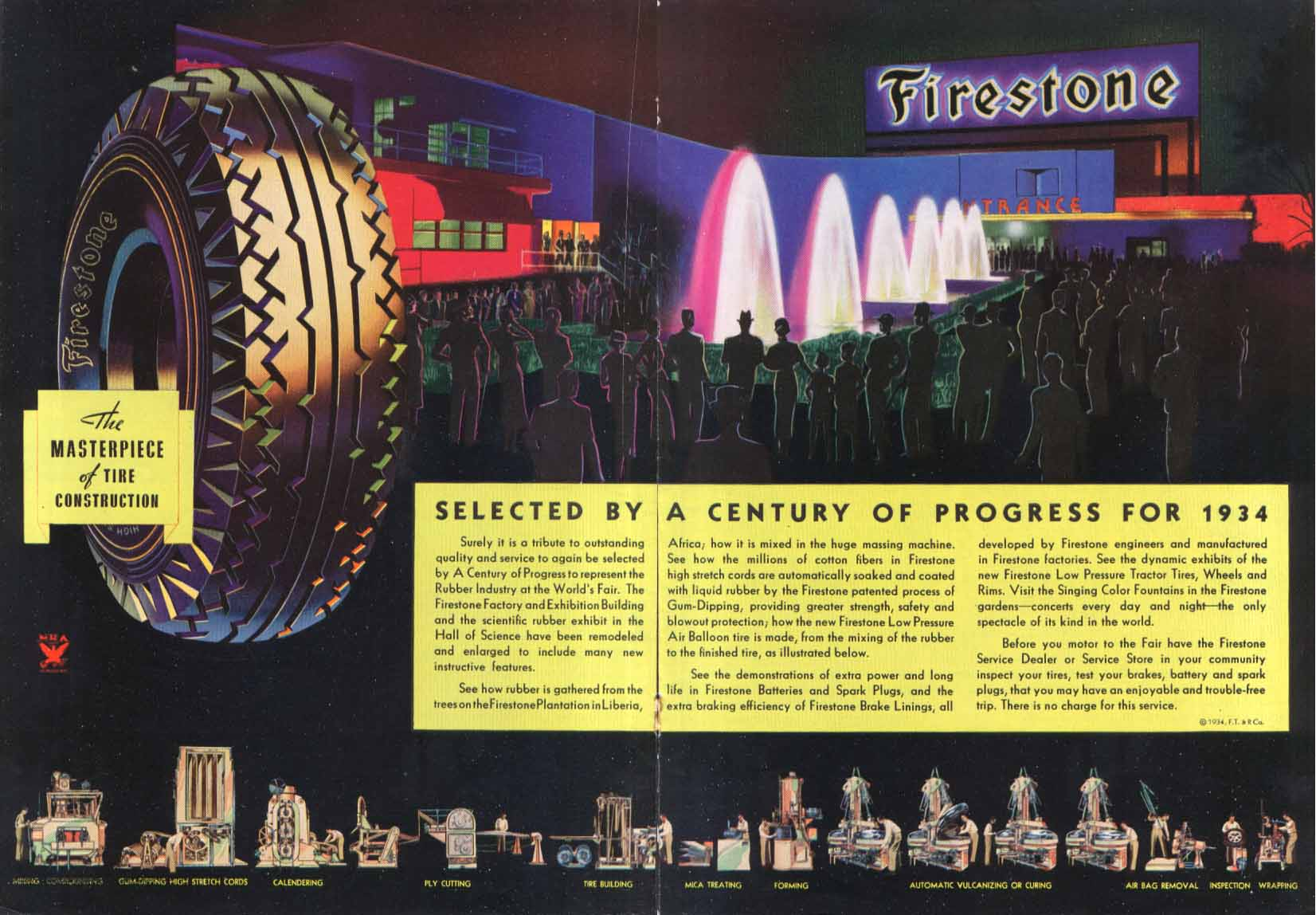 Image for Chicago World's Fair Firestone Tires ad 1934