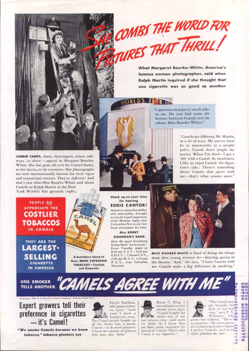New York World's Fair Camel Cigarettes ad 1938