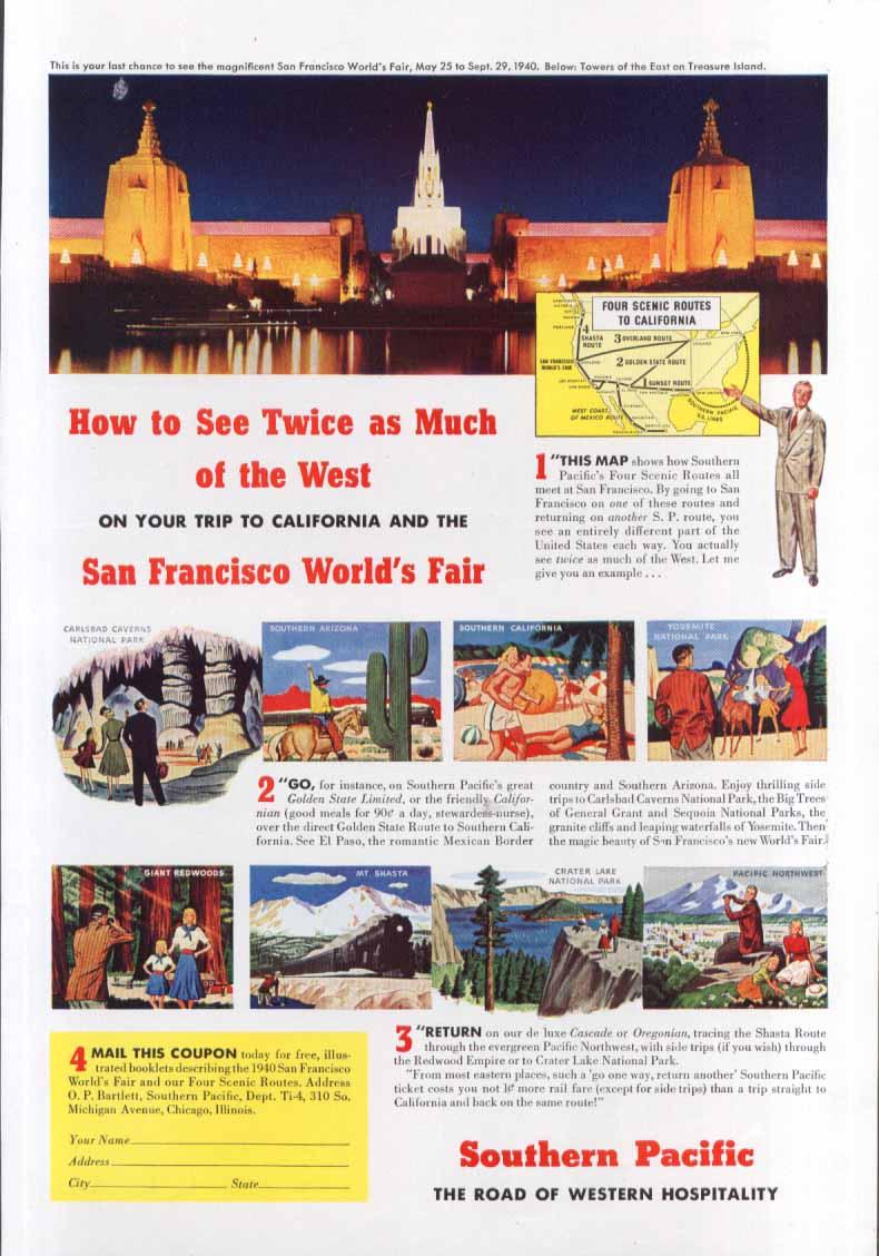 Image for San Francisco World's Fair ad 1940