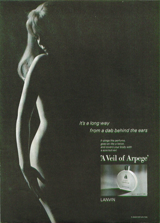 Image for A Veil of Arpege perfume ad 1966