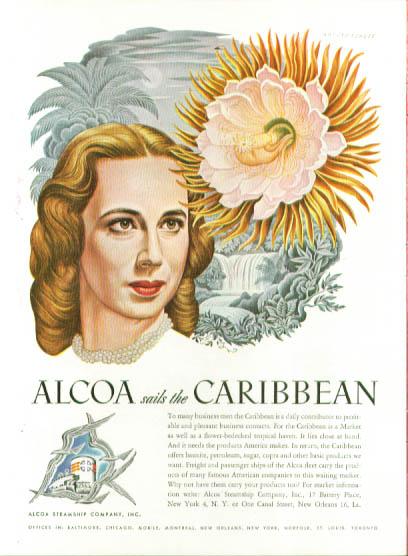 Image for Artzybasheff ad Alcoa Steamship blonde 1948