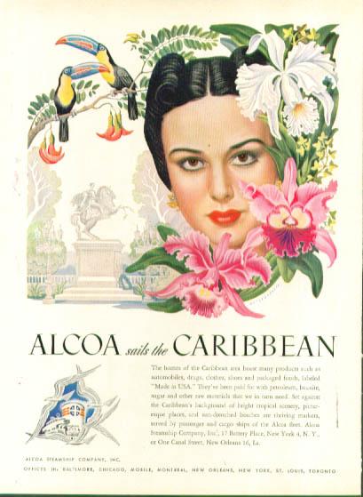 Image for Artzybasheff ad Alcoa Steamship toucans 1948
