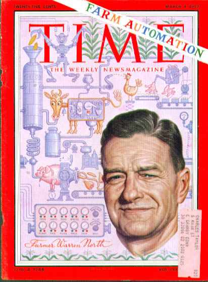 Artzybasheff cover Farm Automation Time 3/9 1959