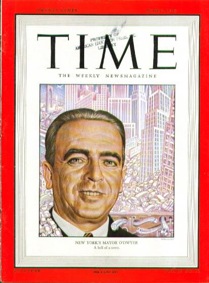 Artzybasheff cover NY Mayor O'Dwyer Time 6/7 1948