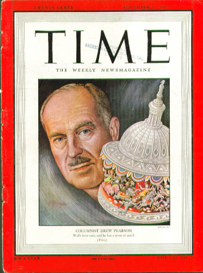 Image for Artzybasheff cover Drew Pearson Time 12/13 1948